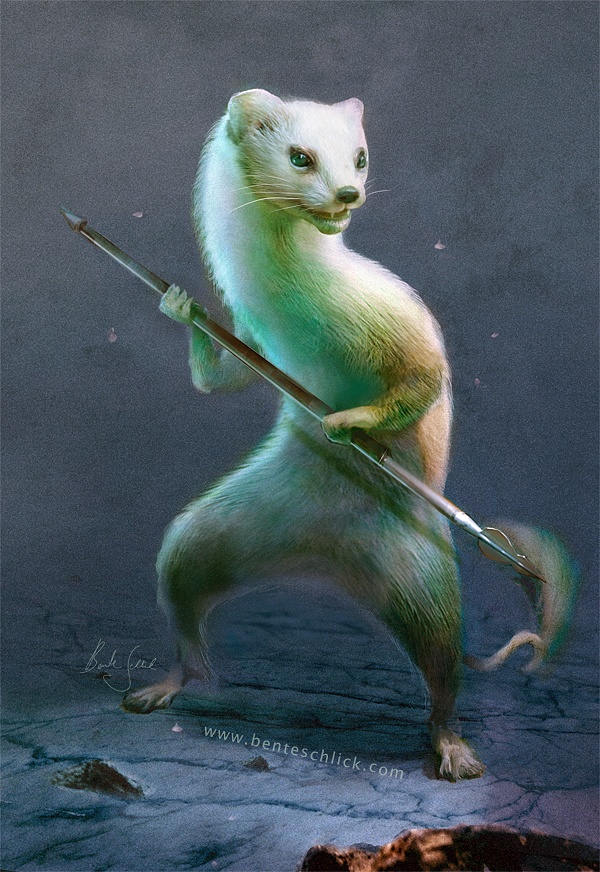 Little Earth Warrior Weasel Concept Art by Bente Schlick