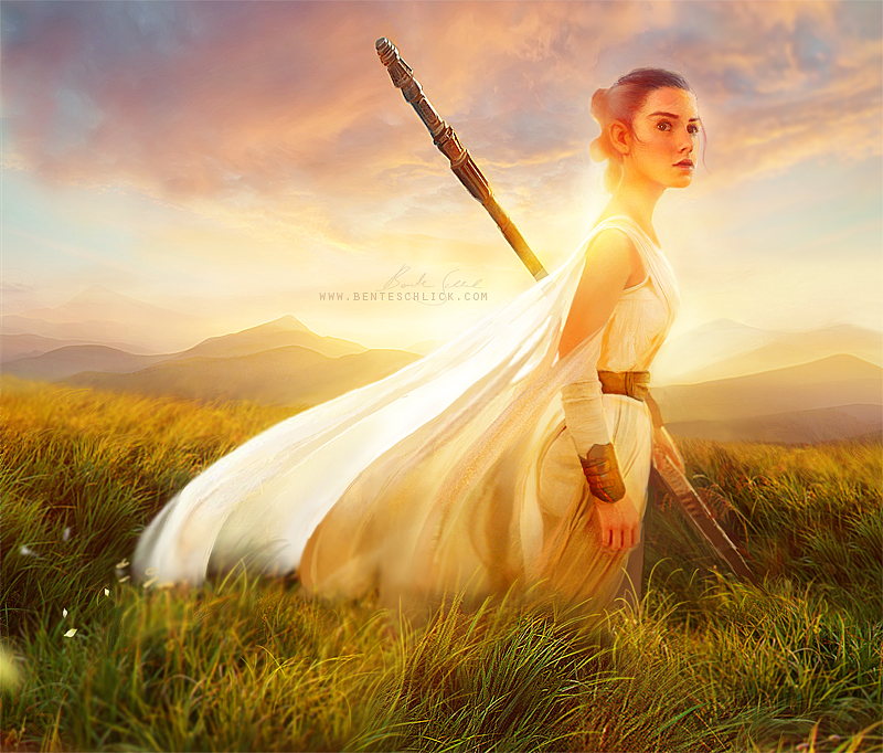 Rey -Star Wars Artwork by Bente Schlick