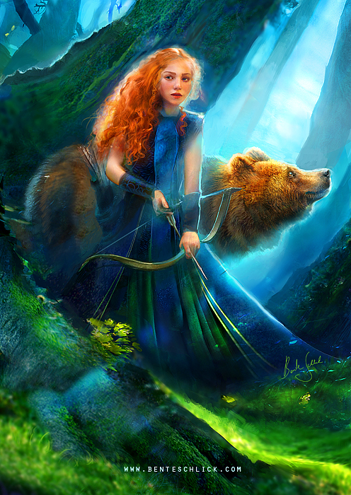 Merida illustration by Bente Schlick