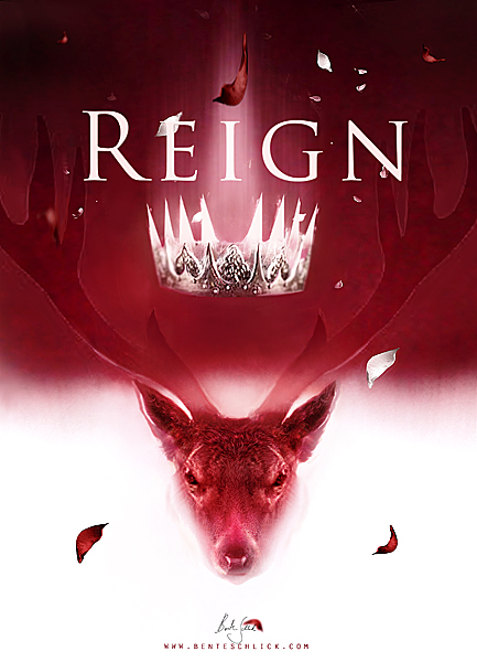 Fantasy Bookcover Ilustration Reign with a Stag by Bente Schlick