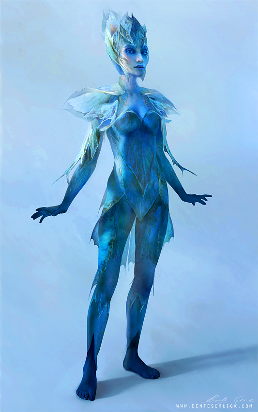 Character Design of a Fairy Creature Front view by Bente Schlick