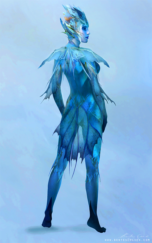 Character Design of a Fairy Creature turnaround by Bente Schlick