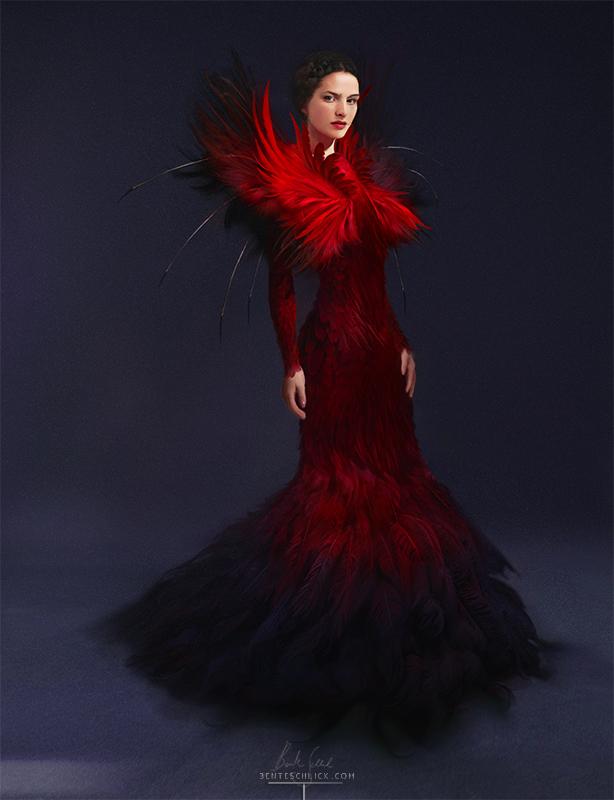 Firebird Phoenix Costume Design by Bente Schlick