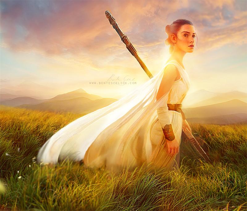 Rey -Star Wars Artwork by Bente Schlick